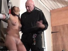 Bastinado and amateur bdsm dungeon of private