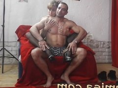 Sexy redhead milf Misa teases a horny strange