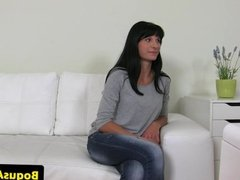 Euro casting with babe facialized after bj