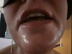 Masked Brazilian Sucking Cock POV