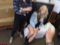 Lesbian couple threesome with pawn man
