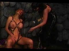 Dominatrix with her slave
