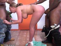 Brooke Wylde Having Her First Interracial DP