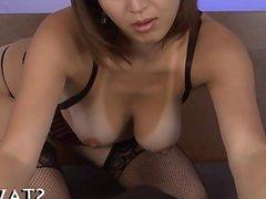 Naughty Asian tits mashing