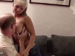 German Step-Dad fucks Step-Daughter when Mom