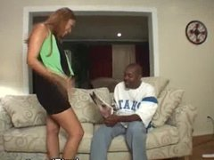 Ebony Honey Get Her Mouth Crammed With Cock
