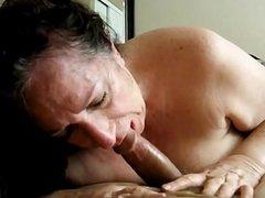 Amateur Horny Grandma POV Blowjob