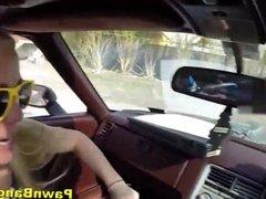 Blonde Bimbo Sells Herself Instead Of Her Car