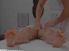 Czech Hot Blonde Enjoys Fucking on Massage Ta