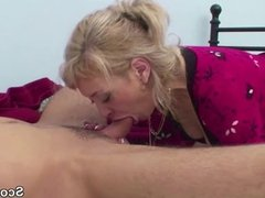 German Mother Wake Up Step-Son to Fuck Her