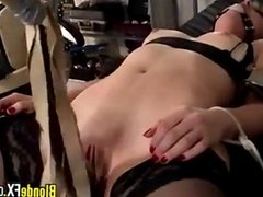 Bound Blonde Getting Abused