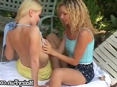 Oral And Dildo Fun By The Pool