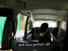 Euro taxi amateur sucking cock