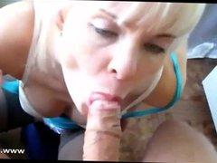 Blonde Babe Gives Superb Blowjob