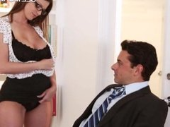 Stunning pornstar Brooklyn Chase pounded