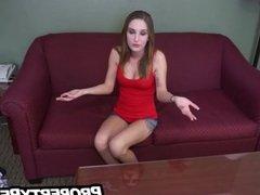 Petite teen with big tits fucks landlord