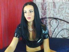 Sexy brunette Lila masturbating on webcam