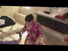 London Keyes busty asian babe hot shower