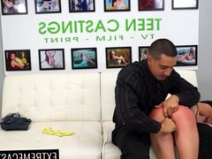 Rene leaves with fucked pussy and facial