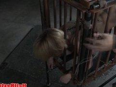 Busty submissive bastinado punished