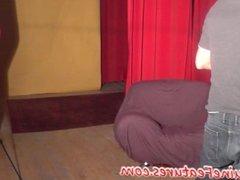 Erotic dance with 18yo asian redhead cutie