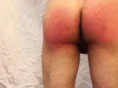 Amateur belt spanking
