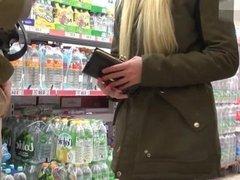 A German Teen Sucking Cock In Public