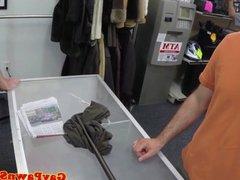 Gaystraight amateur in pov pawnshop threeway