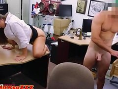 Real pawnshop amateur with booty fucked