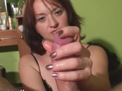 Maya POV sensual handjob with huge cumshot