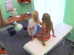 Lesbian sex in hospital