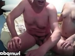Old guy gets nice handjob by his wife