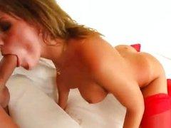 Jennifer swallows a big load