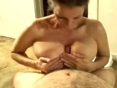 Sexy MILF blowjob titfuck and facial