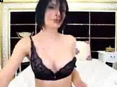 Sexy Brunette With Nice Body Teasing