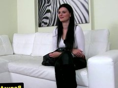 Shy casting chick dared to talk dirty