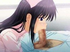 Anime nurse doing deeptroath