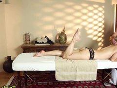 Lesbian massages babe