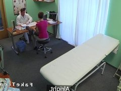 Doctor fucks short haired patient