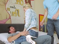 Alli Rae is fucked in threesome by big dicks