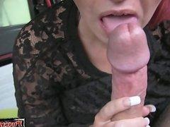 Horny wife deepthroat swallow
