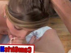 Hot Young Teen Amazing Blowjob Swallow