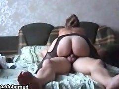 Sexy ass MILF rides dick