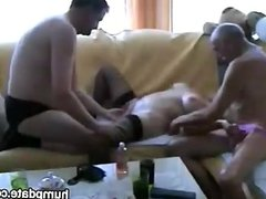 Cuckold shares his mature wife
