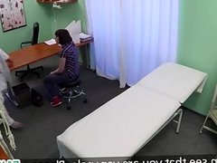 Skin examination in the fake hospital
