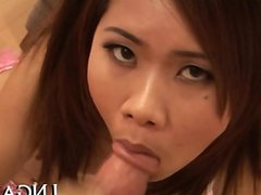Large cock sucking Asian whore