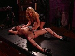 Dungeon bound babe tied and gagged