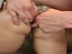 Chubby ass gets pounded by big white dick