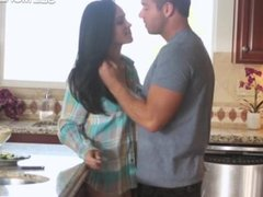 Sexy Jasmine Caro banged on kitchen top