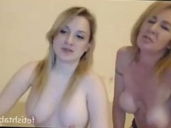 Crazy Mother and Daughter lesbians on webcam